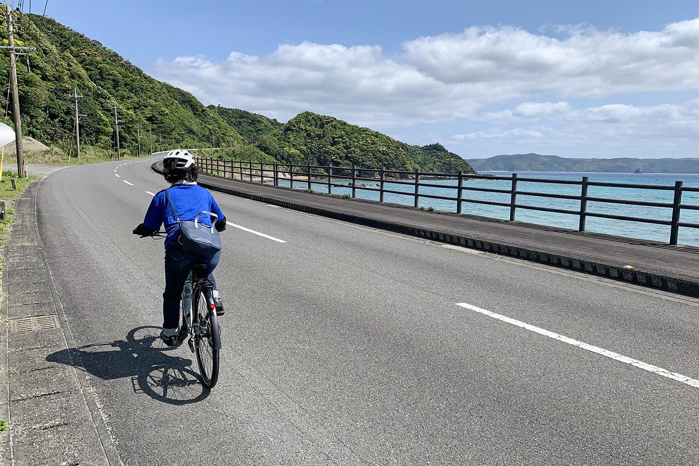 観光しながら走れるスピードが楽しいEバイク