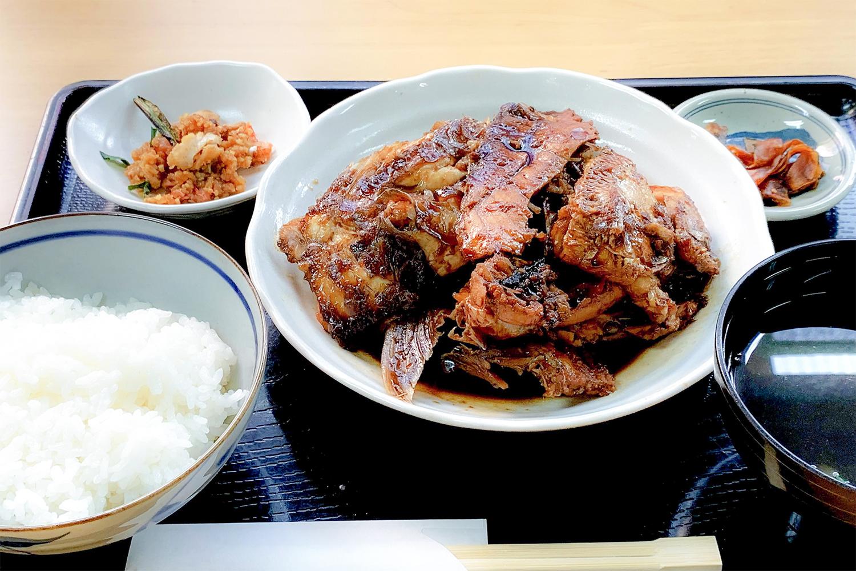 魚のアラ煮定食