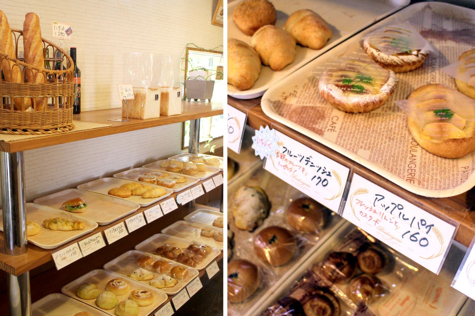 種類豊富な手作りパン「Pain de Seigle」