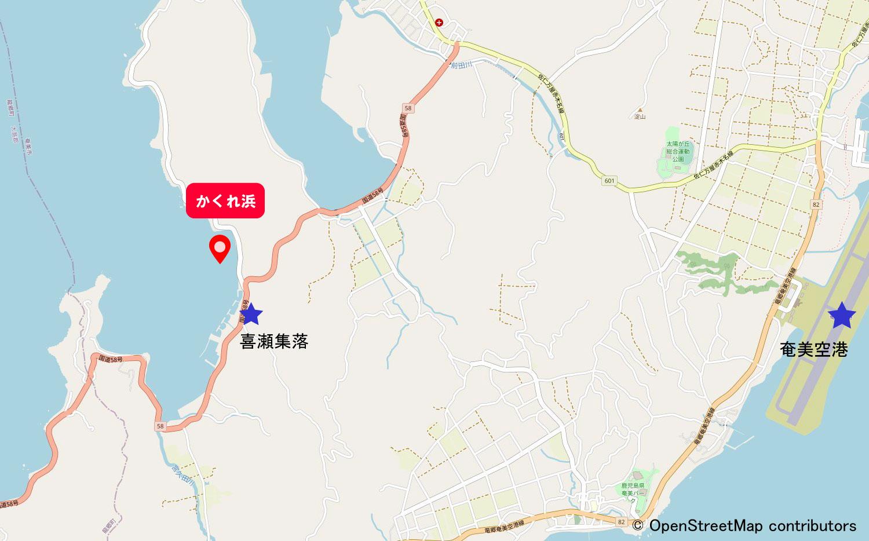 かくれ浜地図