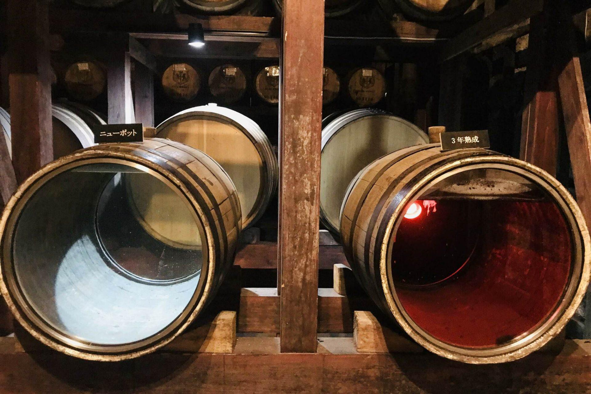 ウイスキー樽 貯蔵庫 ニューポット
