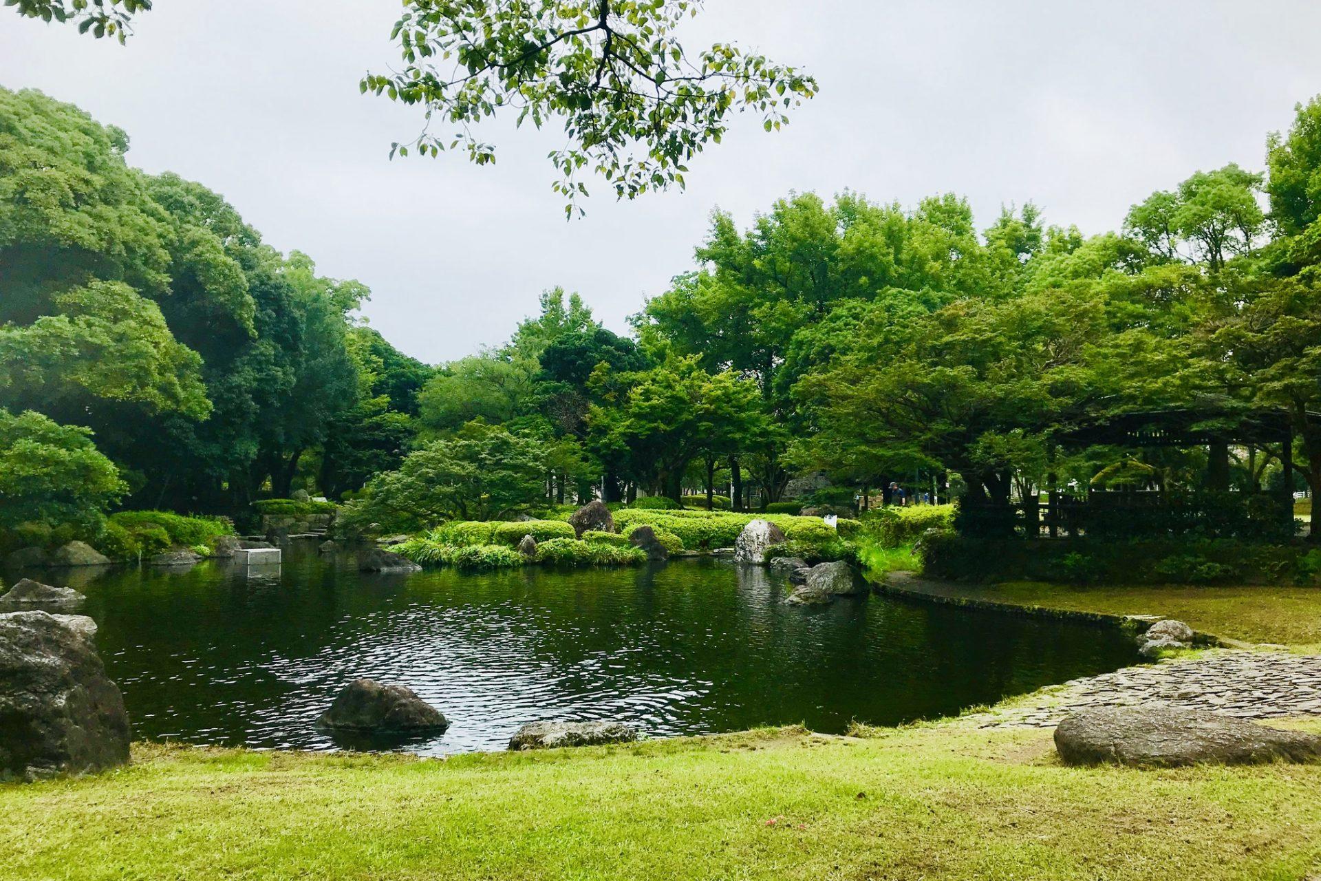 池 宮崎中央公園 宮崎駅 大淀川 橘公園 ウォーキング コース さるく