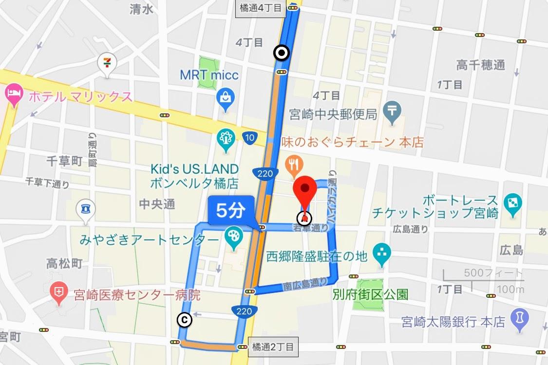 宮崎 さるく 繁華街 地図