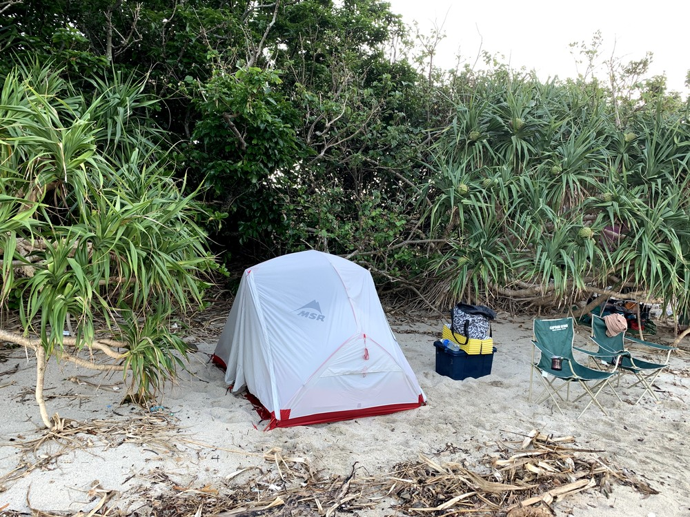 奄美大島 瀬戸内町 ヤドリ浜 キャンプ ビーチ