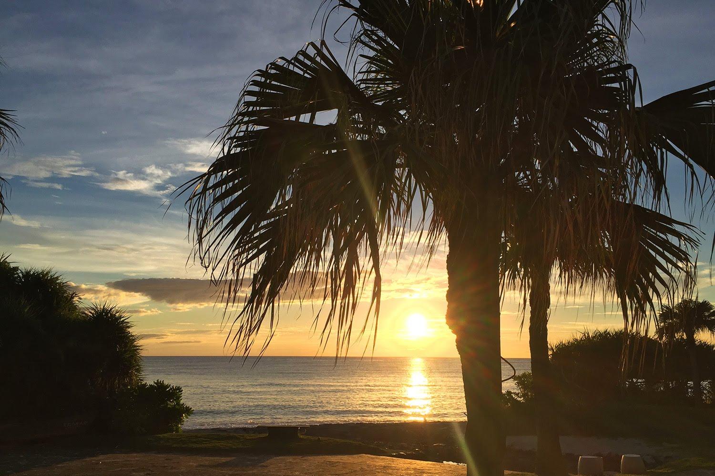 大浜海浜公園 夕日
