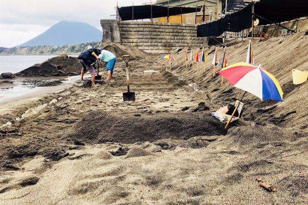 鹿児島の大地から沸き上がるパワー!波の音を聴きながら入る、指宿市「砂むし温泉 砂湯里」 イメージ