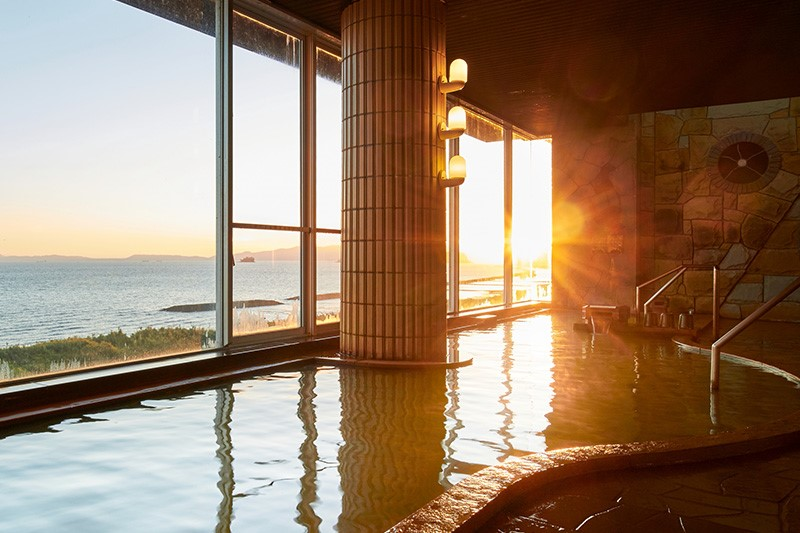 展望大浴場 美人の湯 指宿 こら ん の 湯 錦江楼 鹿児島 旅行 観光 旅館 宿 おすすめ