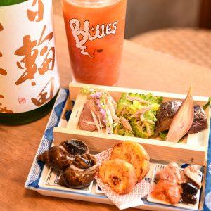 新小屋と八六、那覇市の名店がコラボ 沖縄県産食材の絶品料理が自慢の「末廣ブルース」