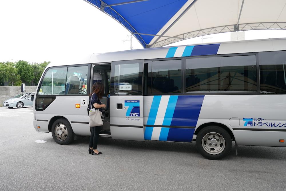 那覇空港までの送迎車