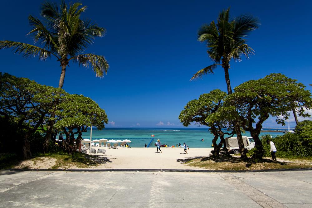 ブセナビーチ 名護市 沖縄 おすすめ ビーチ 離島 旅行