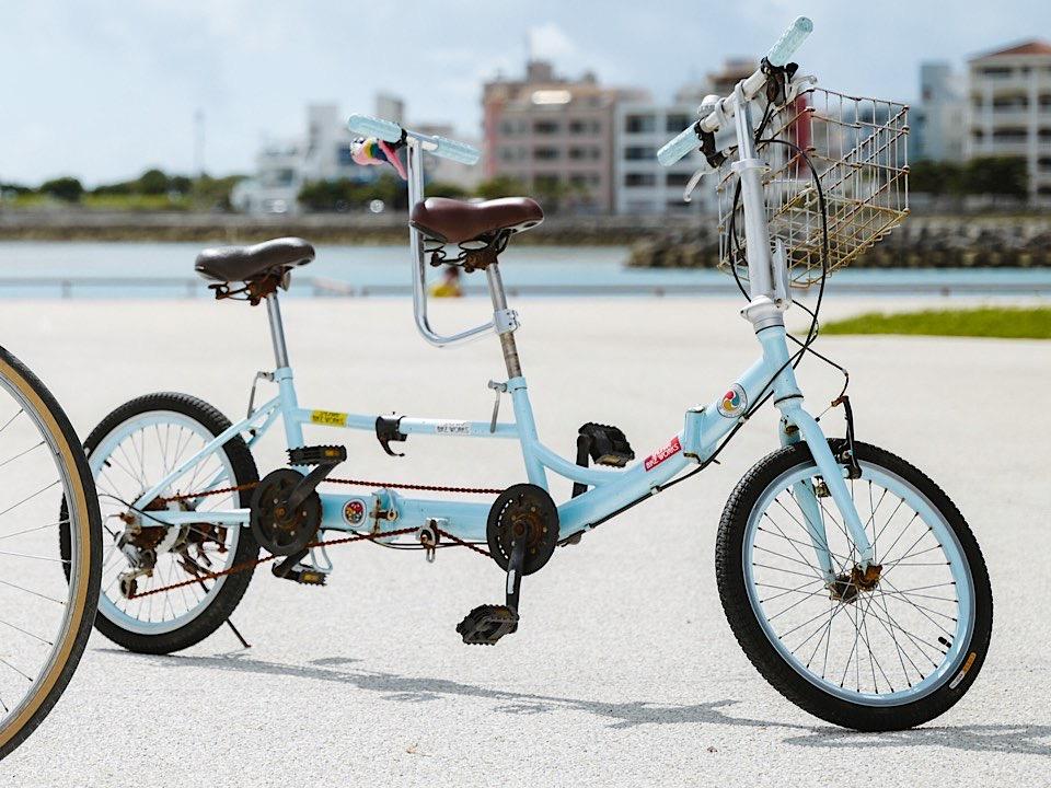 ブリヂストンのタンデム自転車