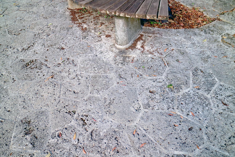 石畳で整備された歩道