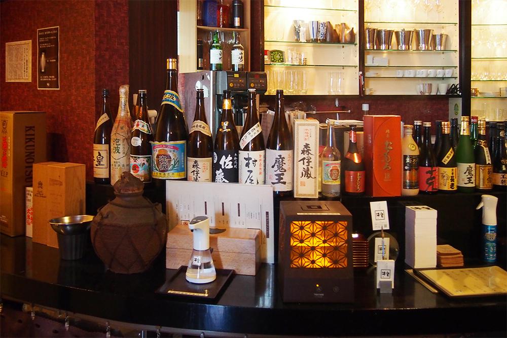 多種多様なお酒のラインナップ