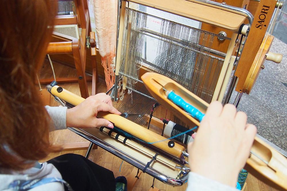 ⑤織る作業