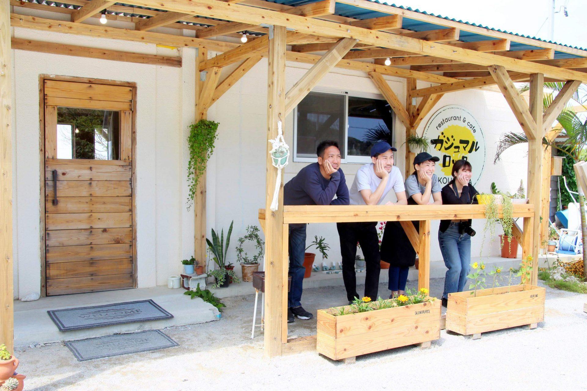 沖縄 海 カフェ ガジュマルロック 古宇利島
