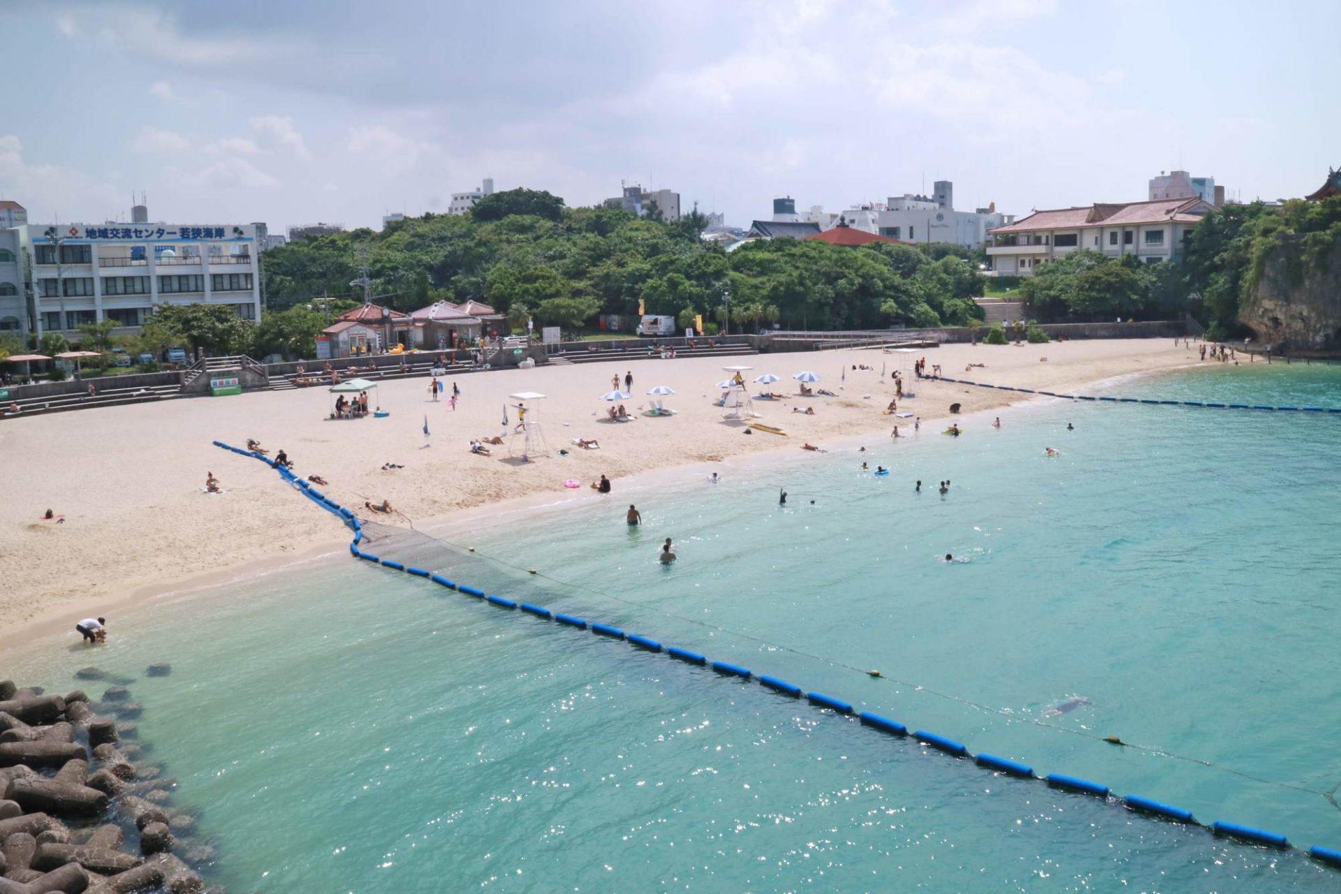 海水浴 那覇市 旭橋 波の上ビーチ 散策 街歩き