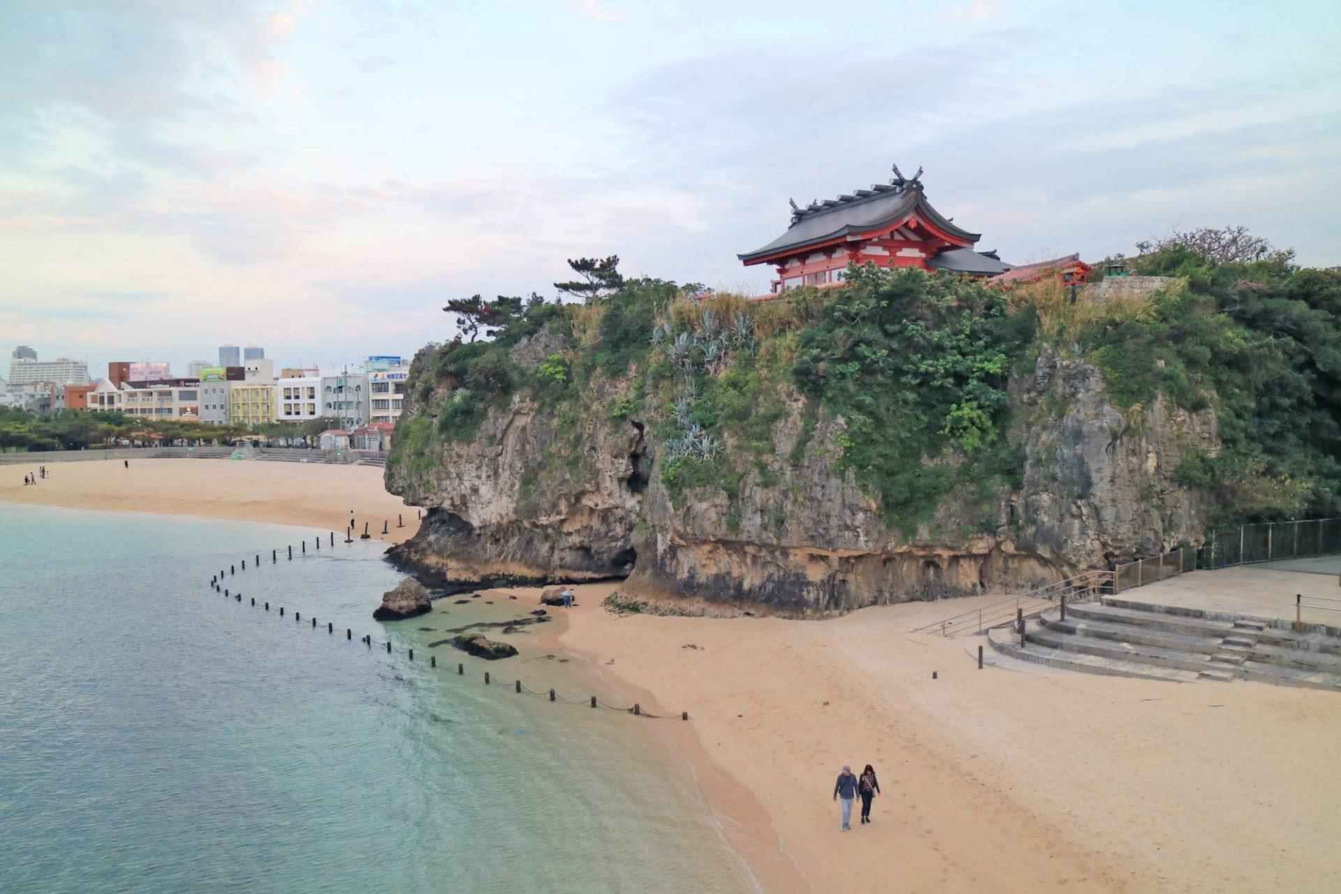 波上宮 沖縄 旅行 観光 1月 正月