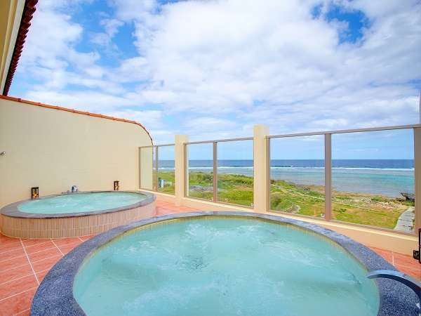 天然温泉・貸切風呂「ムーンライト」 AJ リゾート アイランド 伊計島 ホテル 沖縄 旅行 うるま市 観光 おすすめ