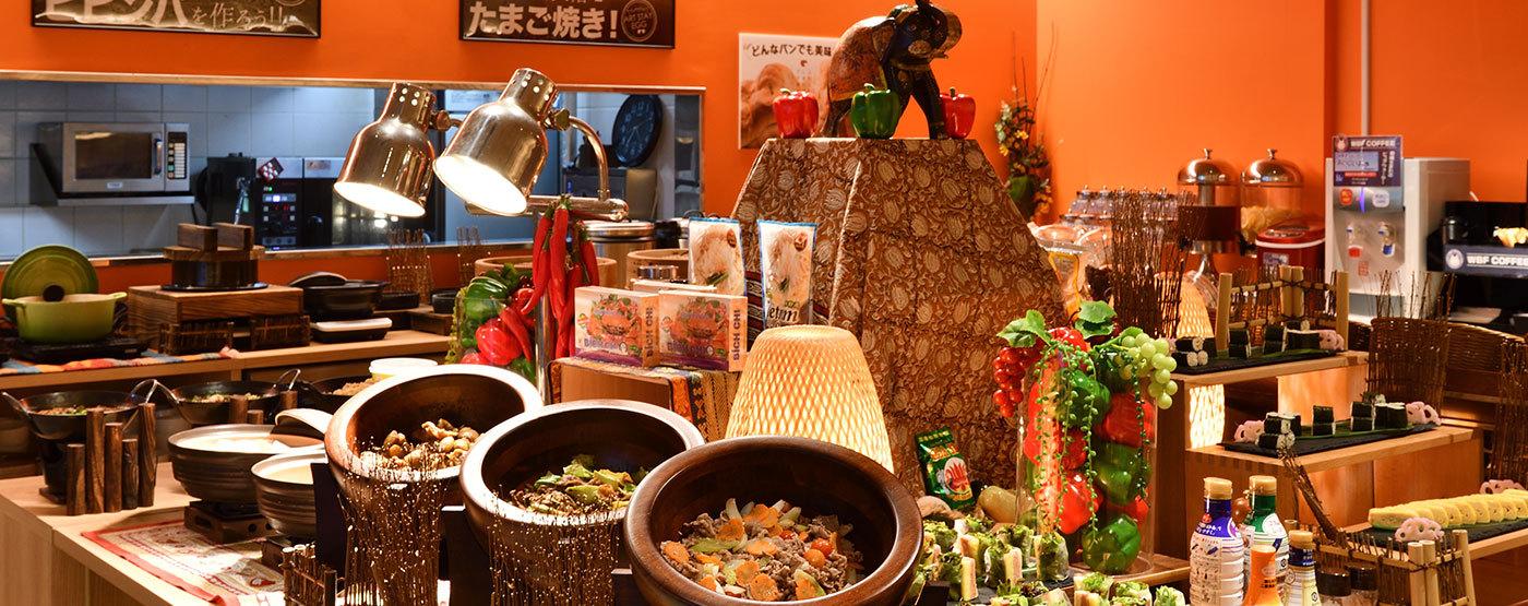 朝食 レストラン ホテル WBF アートステイ 那覇 国際通り 沖縄 旅行 観光 宿泊