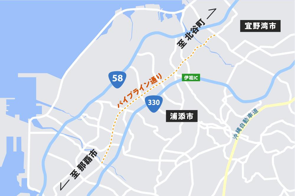 パイプライン通り地図