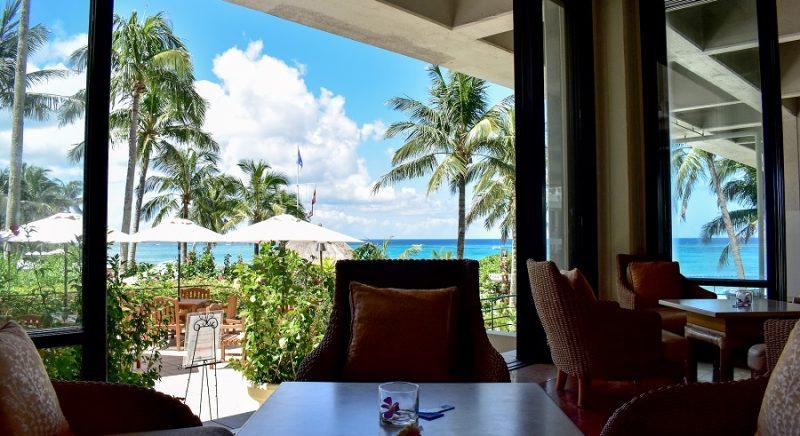 ラウンジ・バー「ラナイ」 ホテル ムーンビーチ 恩納村  おすすめ 西海岸 沖縄 旅行 観光