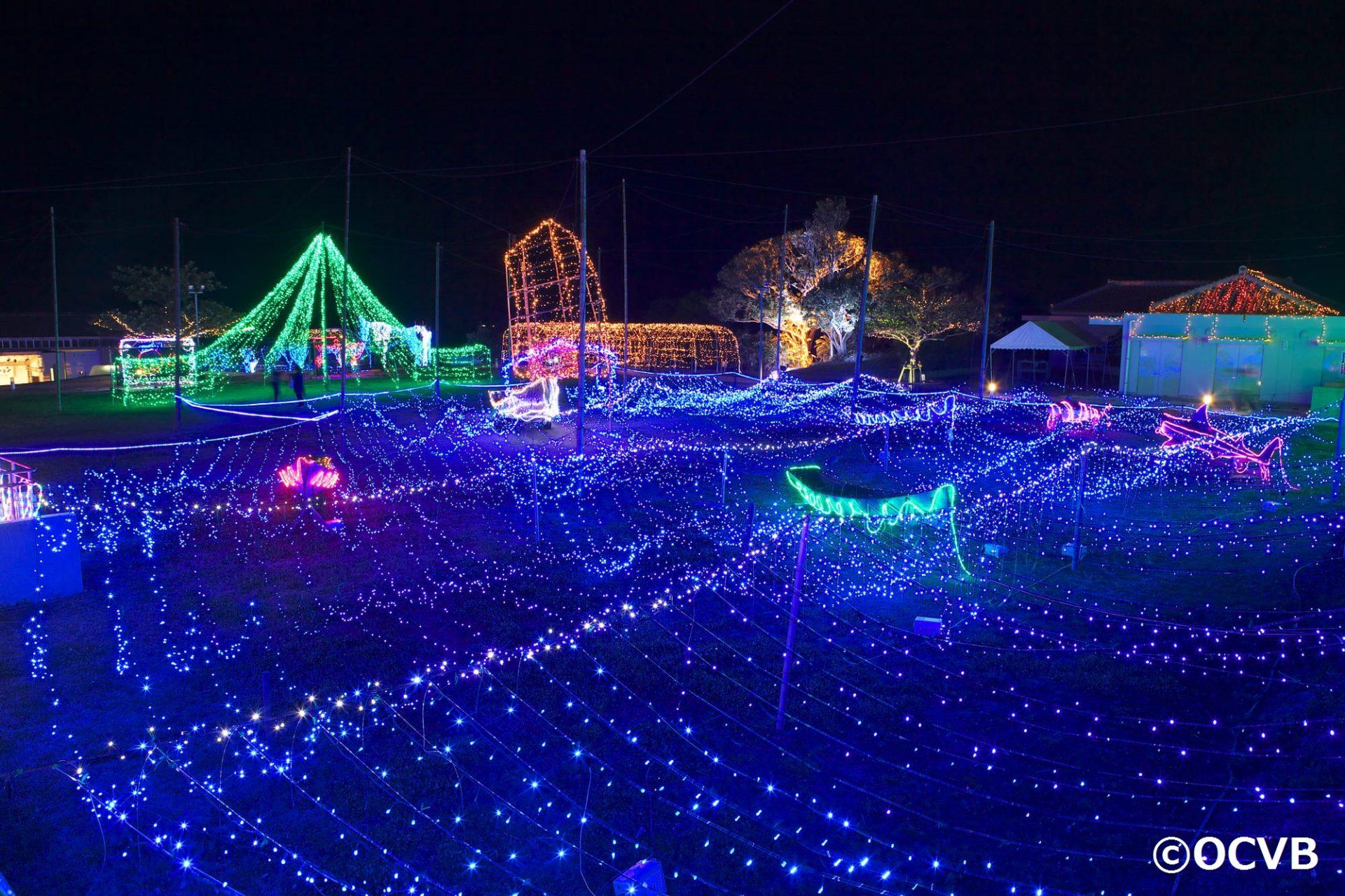 糸満市 いとまんピースフルイルミネーション 沖縄 12月 観光 旅行 おすすめ 楽しみ方